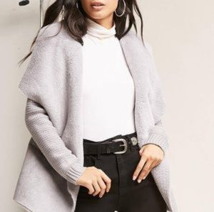Jackets & Blazers - Faux Suede Foldover Jacket